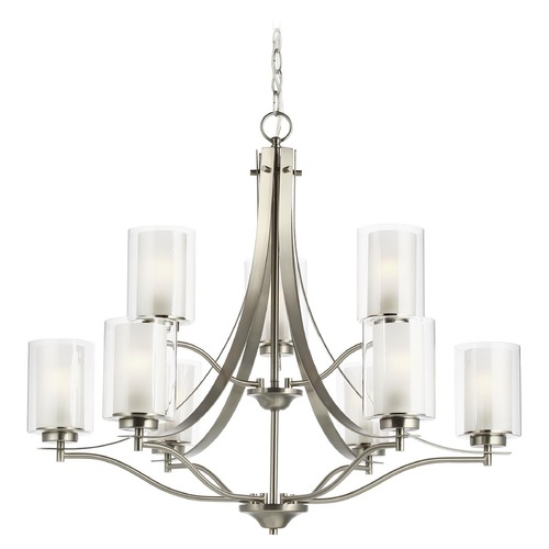 Sea Gull Lighting Sea Gull Lighting Elmwood Park Brushed Nickel LED Chandelier 3137309EN3-962