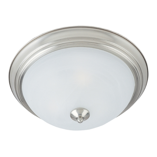 Maxim Lighting Flushmount Light with White Glass in Satin Nickel Finish 85841MRSN
