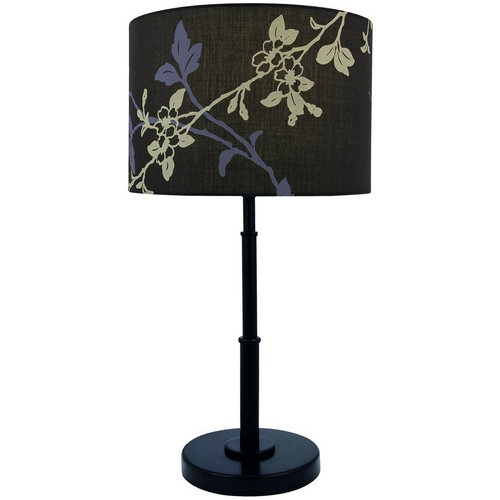 Lite Source Lighting Modern Table Lamp with Brown Shade in Dark Bronze Finish LS-21650D/BRZ