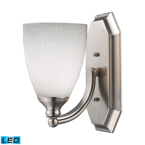 Elk Lighting Elk Lighting Bath and Spa Satin Nickel LED Sconce 570-1N-WH-LED