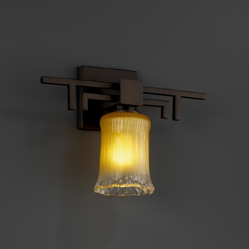 Justice Design Group Justice Design Group Veneto Luce Collection Dark Bronze Sconce GLA-8701-16-GLDC-DBRZ