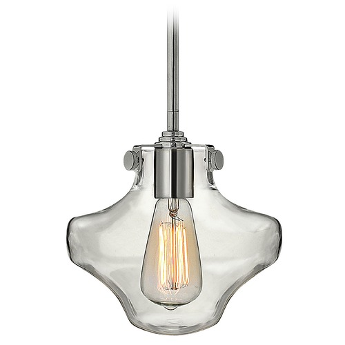 Hinkley Lighting Mini-Pendant Light with Clear Glass 3129CM