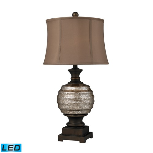 Dimond Lighting Dimond Lighting Antique Mercury Glass, Bronze LED Table Lamp with Drum Shade D2308-LED
