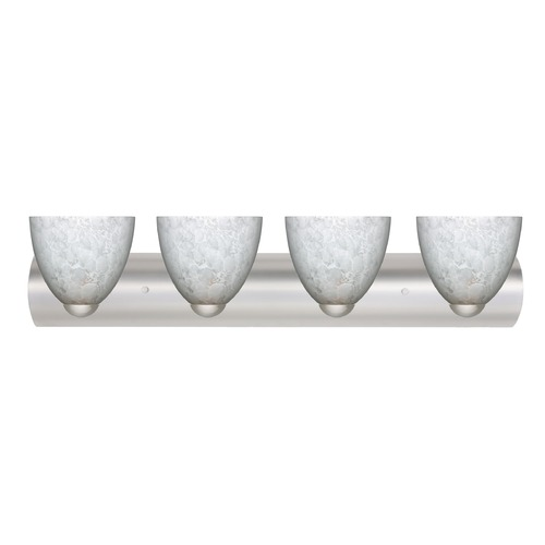 Besa Lighting Besa Lighting Sasha Satin Nickel LED Bathroom Light 4WZ-757219-LED-SN