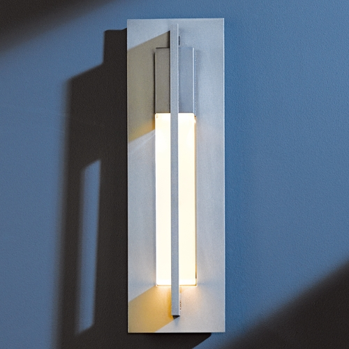 Hubbardton Forge Lighting Hubbardton Forge Lighting Axis Burnished Steel Outdoor Wall Light 306401-08-CTO