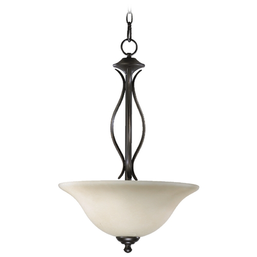 Quorum Lighting Quorum Lighting Spencer Old World Pendant Light with Bowl / Dome Shade 8110-3-95