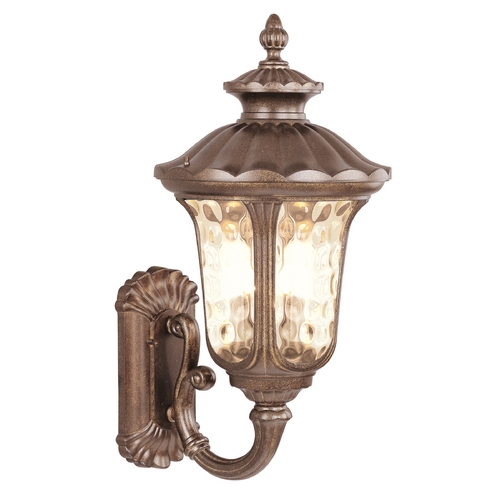 Livex Lighting Livex Lighting Oxford Moroccan Gold Outdoor Wall Light 7656-50