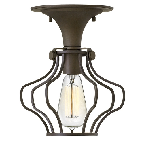 Hinkley Lighting Hinkley Lighting Congress Oil Rubbed Bronze Semi-Flushmount Light 3116OZ
