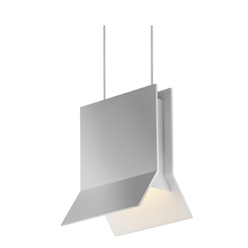Sonneman Lighting Sonneman Lambda Bright Satin Aluminum LED Mini-Pendant Light   2730.16