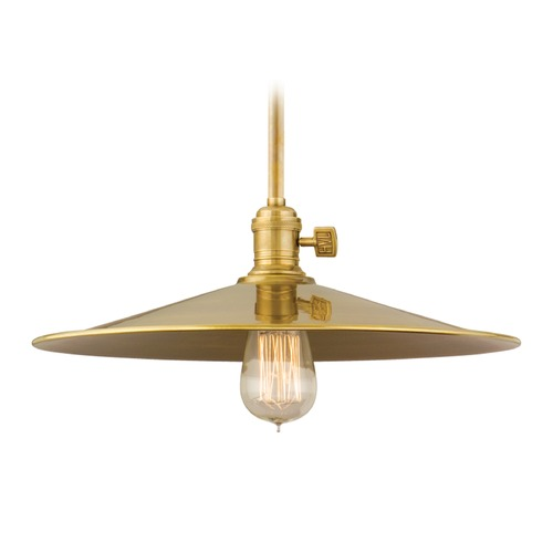 Hudson Valley Lighting Hudson Valley Lighting Heirloom Aged Brass Pendant Light with Coolie Shade 9001-AGB-MM1