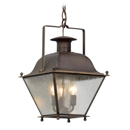 Troy Lighting Troy Lighting Wellesley Natural Rust Outdoor Hanging Light F5077NR