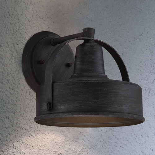 Designers Fountain Lighting Designers Fountain Weathered Pewter Outdoor Wall Light 33141-WP