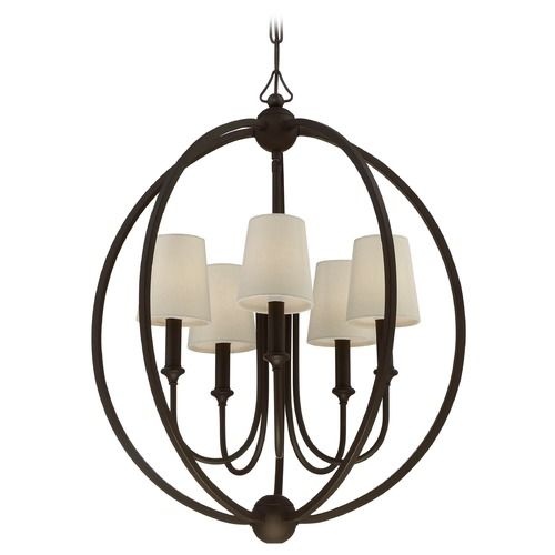 Crystorama Lighting Crystorama Lighting Sylvan Dark Bronze Pendant Light with Empire Shade 2247-DB