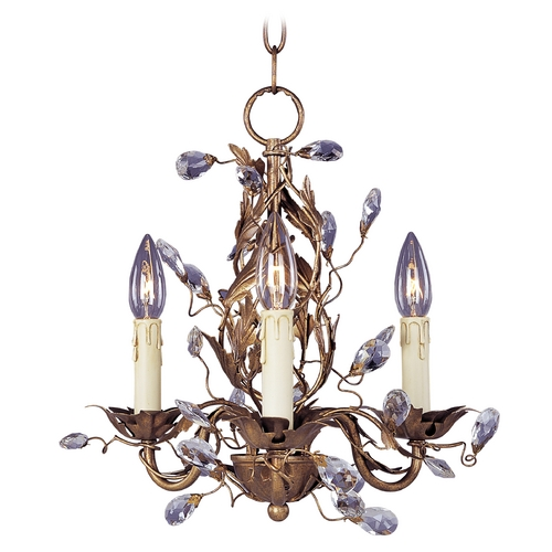 Maxim Lighting Mini-Chandelier in Etruscan Gold Finish 2855EG