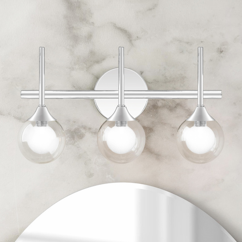 Quoizel Lighting Quoizel Lighting Spellbound Polished Chrome 3-Light Bathroom Light with Clear Glass PCSB8616C
