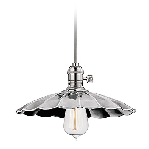 Hudson Valley Lighting Heirloom Polished Nickel Mini-Pendant Light with Bowl Shade 8001-PN-MS3