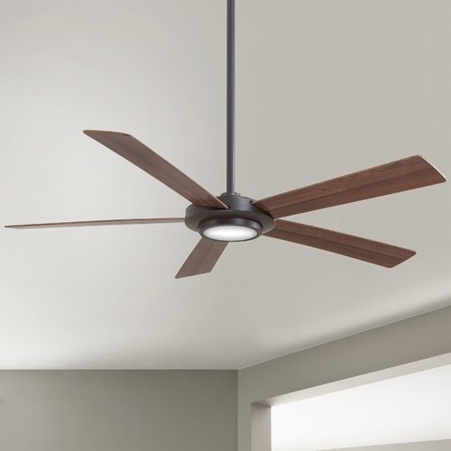 Minka Aire 52-Inch Minka Aire Sabot Oil Rubbed Bronze LED Ceiling Fan with Light F745-ORB