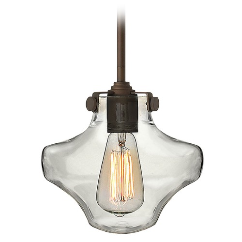 Hinkley Lighting Mini-Pendant Light with Clear Glass 3129OZ