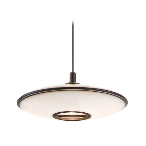 Holtkoetter Lighting Holtkoetter Modern Low Voltage Mini-Pendant Light with White Glass C8110 S006 GB20 HBOB