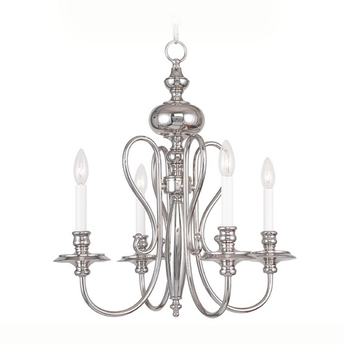 Livex Lighting Livex Lighting Caldwell Polished Nickel Chandelier 5164-35