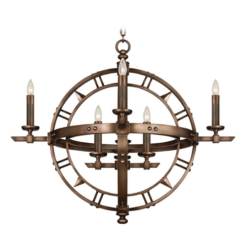 Fine Art Lamps Fine Art Lamps Liaison Antique Hand-Rubbed Bronze Chandelier 860140ST