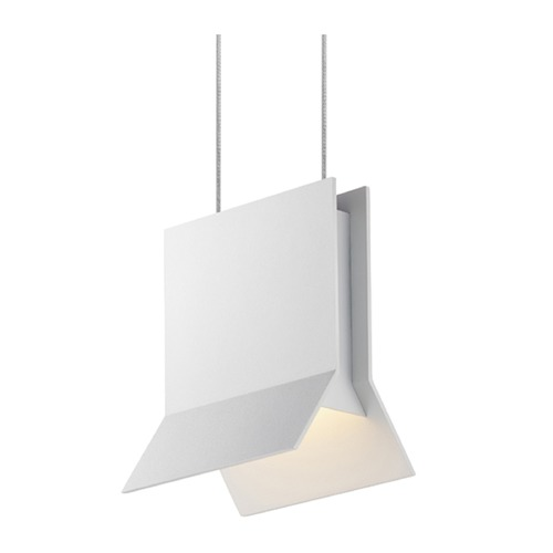 Sonneman Lighting Sonneman Lambda Textured White LED Mini-Pendant Light 2730.98