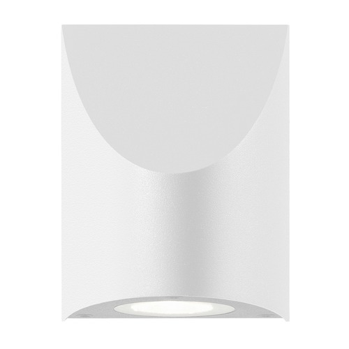 Sonneman Lighting Sonneman Shear Textured White LED Outdoor Wall Light 7222.98-WL