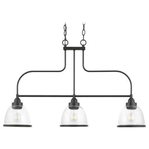 Progress Lighting Progress Lighting Saluda Antique Bronze 3-Light Linear Chandelier P400135-020