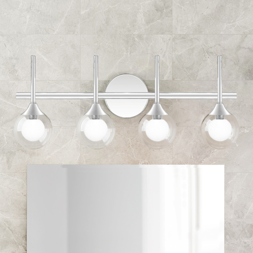 Quoizel Lighting Quoizel Lighting Spellbound Polished Chrome 4-Light Bathroom Light with Clear Glass PCSB8623C