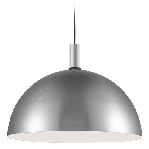 Kuzco Lighting Kuzco Lighting Archibald Brushed Nickel / Black Pendant Light with Bowl / Dome Shade 492324-BN/BK