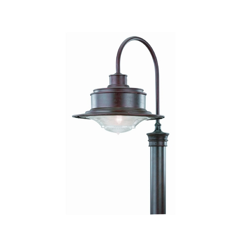 Troy Lighting Post Light with Clear Glass in Old Rust Finish P9394OR