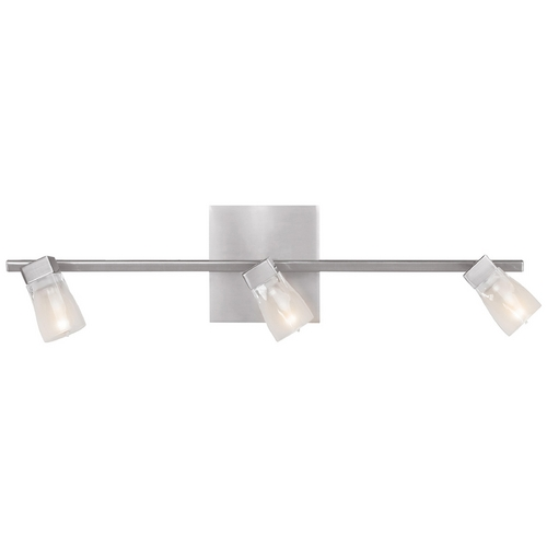 Access Lighting Modern Bathroom Light with White Glass in Brushed Steel Finish 52142-BS/FCL