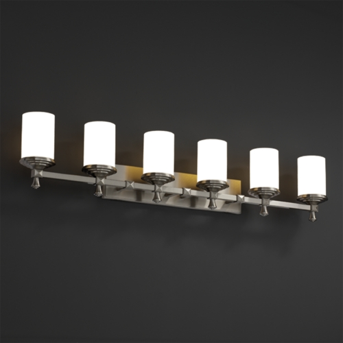 Justice Design Group Justice Design Group Fusion Collection Bathroom Light FSN-8536-10-WEVE-NCKL