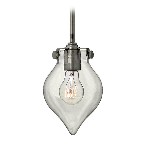 Hinkley Lighting Mini-Pendant Light with Clear Glass 3139AN