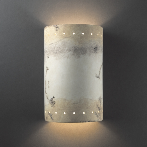Justice Design Group Sconce Wall Light in Greco Travertine Finish CER-1295-TRAG