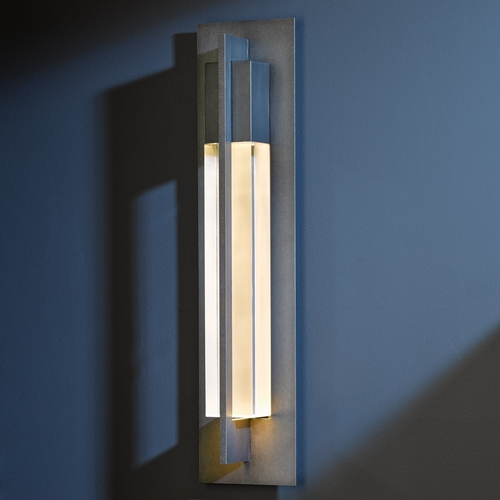 Hubbardton Forge Lighting Hubbardton Forge Lighting Axis Dark Smoke Outdoor Wall Light 306405-07-CTO