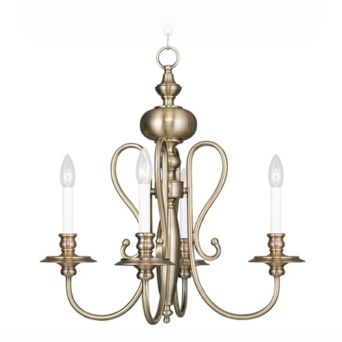 Livex Lighting Livex Lighting Caldwell Antique Brass Chandelier 5164-01