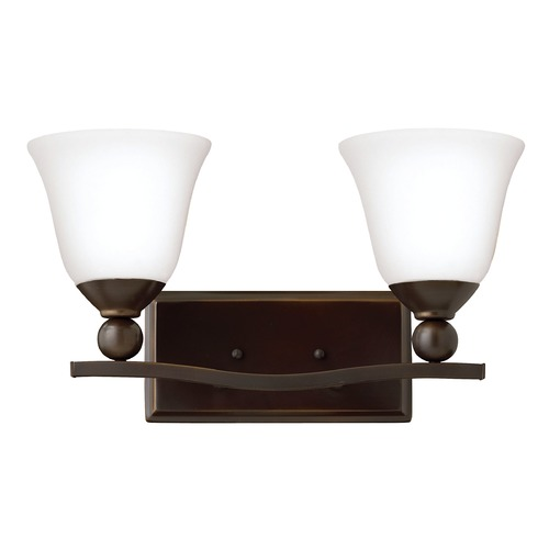 Hinkley Lighting Hinkley Lighting Bolla Olde Bronze Bathroom Light 5892OB-OPAL