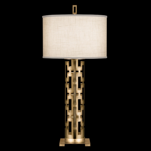 Fine Art Lamps Fine Art Lamps Allegretto Gold Burnished Gold Leaf with Subtle Brown Highlights Table Lamp with Drum 787310-2ST
