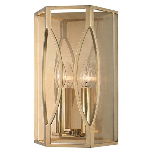 Hudson Valley Lighting Roswell 2 Light Sconce - Aged Brass 6502-AGB