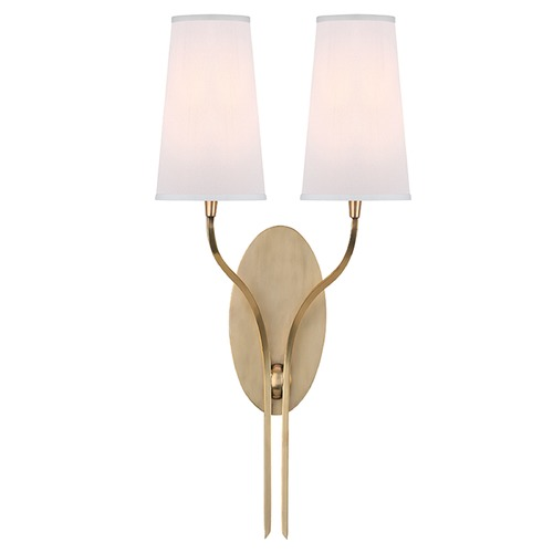 Hudson Valley Lighting Rutland 2 Light Sconce - Aged Brass 3712-AGB-WS