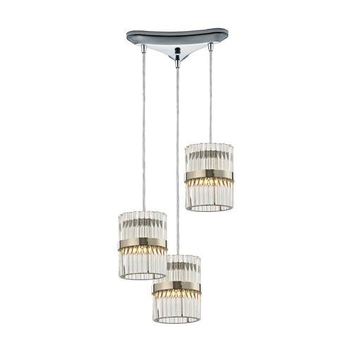 Elk Lighting Elk Lighting Nescott Polished Chrome Multi-Light Pendant 45284/3