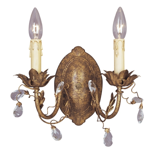 Maxim Lighting Sconce Wall Light in Etruscan Gold Finish 2857EG