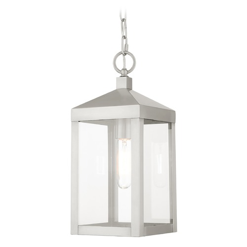 Livex Lighting Livex Lighting Outdoor Hanging Light in Brushed Nickel 20591-91