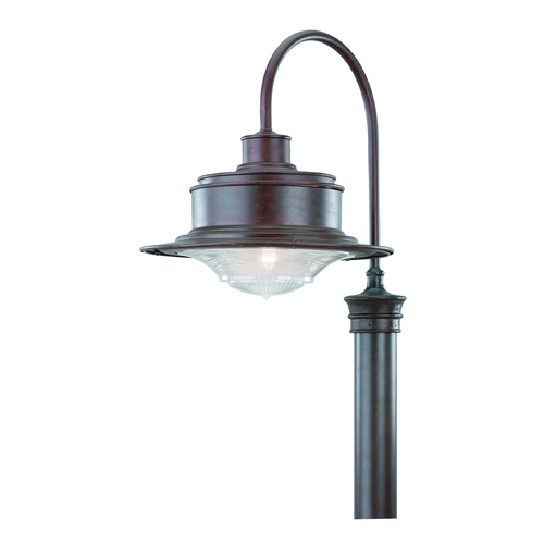 Troy Lighting Post Light with Clear Glass in Old Galvanize Finish P9394OG