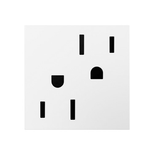 Legrand Adorne White Power Wall Outlet - Tamper Resistant ARTR152W8
