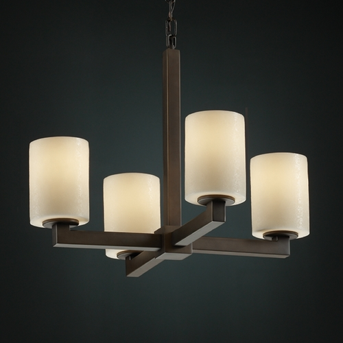 Justice Design Group Justice Design Group Candlearia Collection Mini-Chandelier CNDL-8829-14-CREM-DBRZ