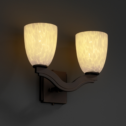Justice Design Group Justice Design Group Fusion Collection Bathroom Light FSN-8975-18-DROP-DBRZ