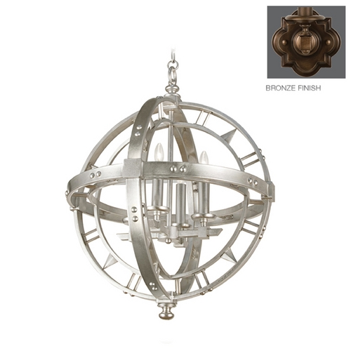 Fine Art Lamps Fine Art Lamps Liaison Antique Hand-Rubbed Bronze Pendant Light 861240ST
