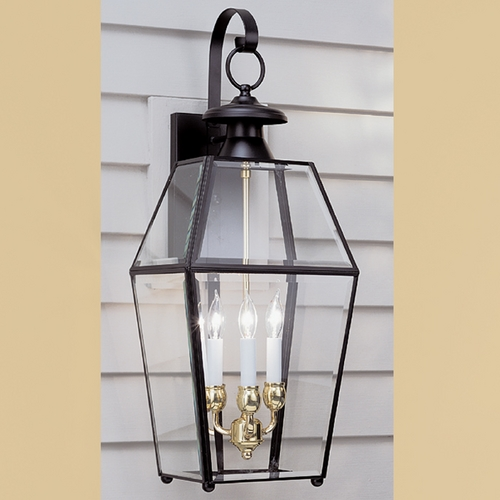 Norwell Lighting Norwell Lighting Olde Colony Black Outdoor Wall Light 1067-BL-BE